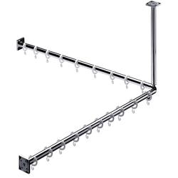 EMCO Duschvorhang-Set System 2 900 mm chrom
