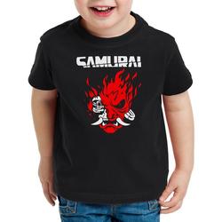 style3 Print-Shirt Kinder T-Shirt Cyberpunk Samurai cyberpunk band silverhand 104