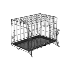 tectake Tiertransportbox Hundebox Gitter tragbar 76 x 47 x 51 cm - 47.0 cm x 51.0 cm x 76.0 cm