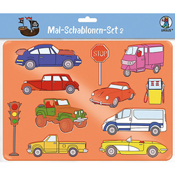 Mal-Schablonen-Set 2 grün-kombi