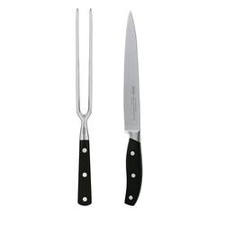 RÖSLE Tranchierbesteck 2 teilig mit Fleischgabel und Fleischmesser 18 cm