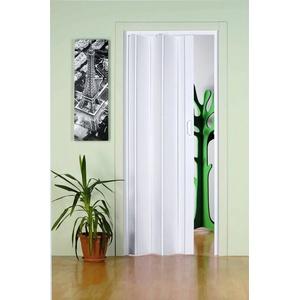 Falttür Monica, BxH: 83x204 cm, Weiß ohne Fenster