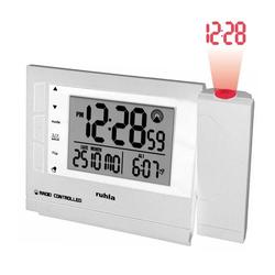 UMR Ruhla Projektionswecker Funkwecker mit Projektion weiss RC-Clock 1561-2
