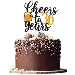 Unimall Tortenaufsatz zum 30. Geburtstag, Hochzeit, Jahrestag, Party, Dekoration, 1 Stück