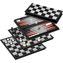 Schach-Backgammon-Dame-Set magnetisch