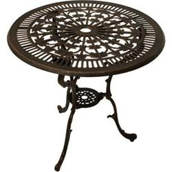 DEGAMO Tisch Jugendstil 70cm rund, Aluguss bronze antik