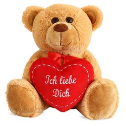 matches21 HOME & HOBBY Plüschfigur Herz Herzteddy mit Spruch Ich Liebe Dich (1-St)