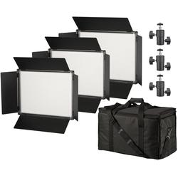 BRESSER Flächenleuchte SH-1200A Bi-Color LED Flächenleuchten 3er Set