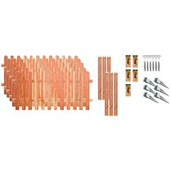 T&J Staketenzaun Austin 3, (Set), 5 Elemente, LxH: 954x80 cm