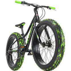 KS Cycling Jugendfahrrad Fatbike 24'' Crusher Schwarz RH 30 cm