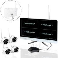 Safe2Home Funk Überwachungskamera 4 Kanal Set Secure S1.0
