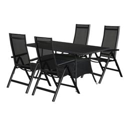 ebuy24 Essgruppe Canny Gartenmöbel Set 1 Tisch und 4 Stühle.
