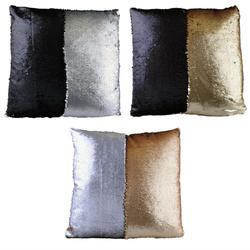 Paillettenkissen METALLIC gefüllt - Farbwechsel Kissen - Sequin Dekokissen Sofakissen 45cm