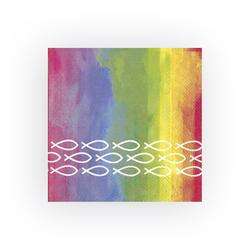 IHR Papierserviette Regenbogen Fische, (5 St), 33 cm x 33 cm