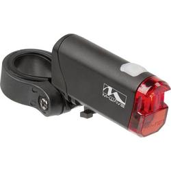 M-Wave Fahrrad-Rücklicht HELIOS K 1.1 LED batteriebetrieben Schwarz