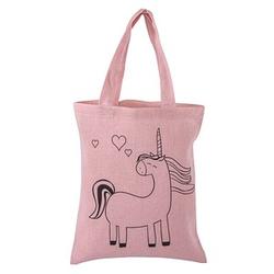 Rayher Stofftasche mit Druck Stoff pink