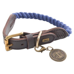HUNTER Hundehalsband List blau, Breite: ca. 12 mm, Länge: ca. 57 - 65 cm - ca. 57 - 65 cm