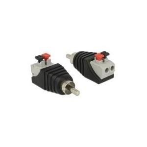 DeLOCK - Audio-Adapter - RCA (M) - 2-polige Klemmleiste (65566)