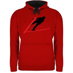 Shirtracer Hoodie Skispringer Skispringen - Wintersport - Unisex Damen & Herren Kontrast Hoodie XS