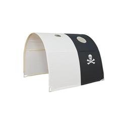 Homestyle4u Betttunnel, Tunnel Zelt Bettzelt Bettdach Spieltunnel weiß