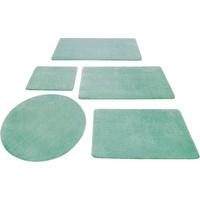 Wecon home Basics Badematte Joris Wecon home Basics, Höhe 20 mm, rutschhemmend beschichtet grün rechteckig - 60 cm x 100 cm x 20 mm