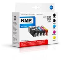 KMP C100V kompatibel zu Canon PGI-550PGBK XL schwarz + CLI-551 CMYK