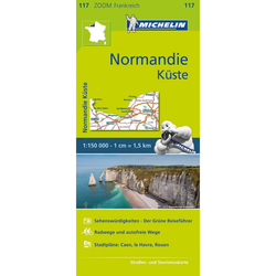 Michelin Zoomkarte Normandie Küste 1 : 200 000 - Straßenkarten