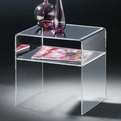 Sofatisch aus Acrylglas Ablage