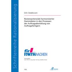 Nutzenpotenziale harmonisierter Stammdaten in den Prozessen der Auftragsabwicklung von Auftragsfertigern als Buch von Dirk Oedekoven