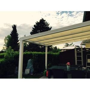 Terrassendach Alu 10 mm VSG + Sonnensegel Terrassenüberdachung 3 m breit Glas