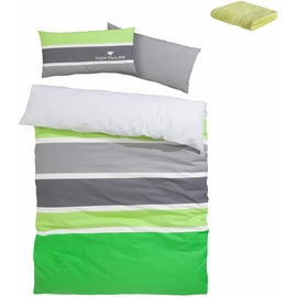 TOM TAILOR Felix Biber grün 135 x 200 cm + 40 x 80 cm