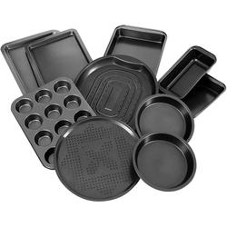 COSTWAY Backblech Ofenblech, Karbonstahl, (10-St), 10-teiliges Backblech-Set