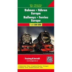 Bahnen + Fähren Europa, Eisenbahnkarte 1:5,5 Mio