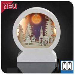 LED-Tischdeko Rundbild 3D ws battb.