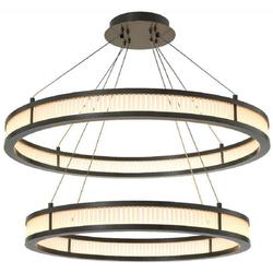 Casa Padrino Luxus LED Kronleuchter Bronzefarben / Weiß Ø 85 cm - Moderner runder Kronleuchter - Wohnzimmer Kronleuchter - Hotel Kronleuchter