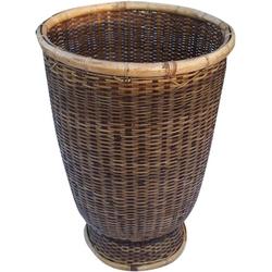 Guru-Shop Allzweckkorb Rattan Papierkorb, asiatischer Korb 27 cm x 42 cm x 27 cm