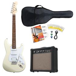 Fender Squier Bullet Strat HSS IL AWT E-Gitarre Set