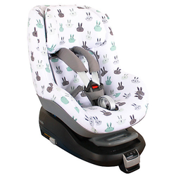 Sommerbezug (2Way) Pearl/ Pearl Pro (i-size) Weiß Hasen Kindersitzbezüge weiß  Kleinkinder