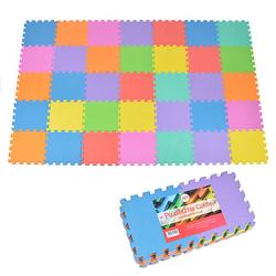 Puzzlematte mit farbigen Matten »Puzzlestar Colour« blau/rot