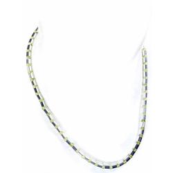 Adelia´s Kette ohne Anhänger Peridot Halskette 925 Silber