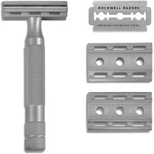 Rockwell 6S Klassischer Rasierapparat, Chrom matt