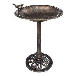 vidaXL Kunststoff-Fliesen vidaXL Vogelbad Bronzen Kunststoff