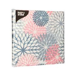 "PAPSTAR Papierserviette 20 Servietten 40 cm x 40 cm grau ""Floralies"""