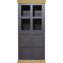 Glasvitrine Matrix Höhe 156 cm grau