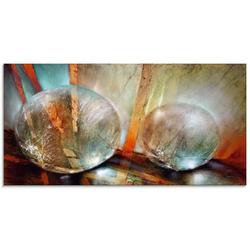 Artland Glasbild Lichtfänger, Gegenstandslos (1 Stück) 60 cm x 30 cm x 1,1 cm
