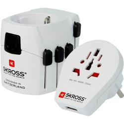 Skross 1302535 Reiseadapter PRO World & USB