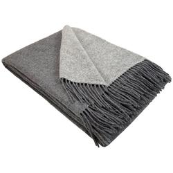 Wolldecke Wohndecke Merinowolldecke Wolldecke Plaid 140 x 200 cm Doubleface in vielen Farben erhältlich, STTS grau