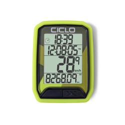 Ciclosport Fahrradcomputer Protos 113 Kabel Fahrradtacho 4 Zeilen Display grün