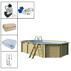 Trendline Holzpool-Set Oval 610 x 400 x 124cm