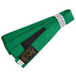 Kinder BJJ Gürtel grün m. Bar (Größe: 240, Farbe: Grün)